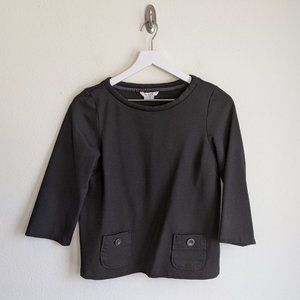 Boden Black 3/4 Sleeve Pullover